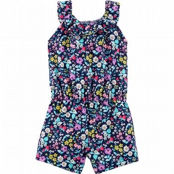 Carter's Floral Ruffle Romper
