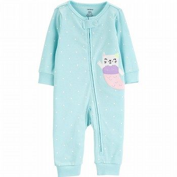 Carter's Zip-Up Cotton Sleep & Play Footless Onepiece