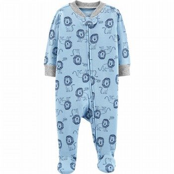 Carter's Zip-Up Cotton Footed Sleep & Play Onepiece