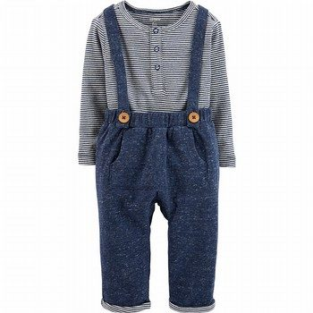 Carter's 2PC Bodysuit Suspender Pant Set