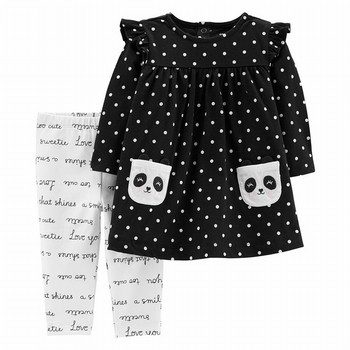 Carter's 2PC Panda Dress & Slogan Legging Set