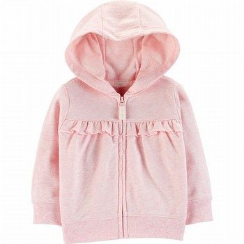 Carter's Ruffle Zip-Up French Terry Hoodie