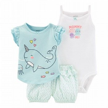 Carter's 3PC Narwhal Little Short Set