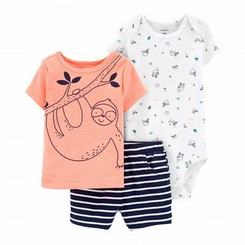 Carter's 3PC Sloth Little Short Set