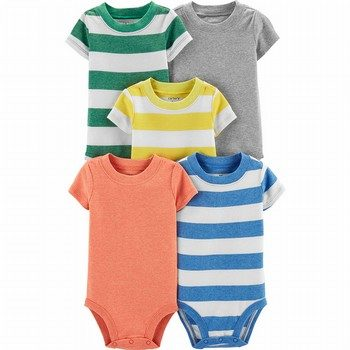 Carter's 5PK S/S Striped Original Bodysuits