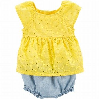 Carter's Lemon Eyelet Sunsuit