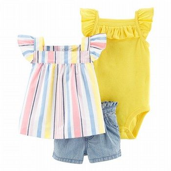 Carter's 3PC Chambray Short Set