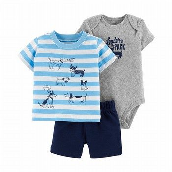 Carter's 3PC Dog Little Short Set