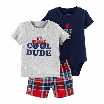Carter's 3PC Cool Dude Little Short Set