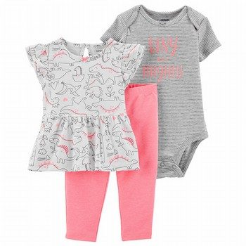 Carter's 3PC Dinosaur Pant Set