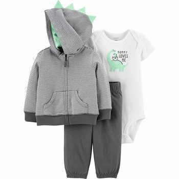 Carter's 3PC Dinosaur Little Jacket Set