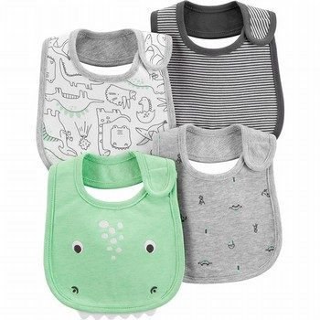 Carter's 4PK Dinosaur Teething Bibs