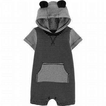 Carter's Hooded Striped Romper