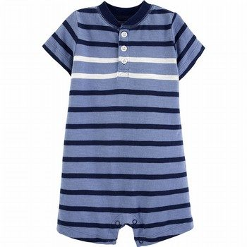 Carter's Striped Slub Henley Romper