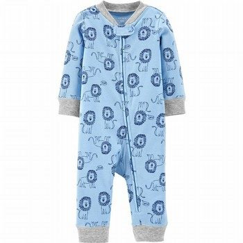 Carter's Zip-Up Cotton Footless Sleep & Play Onepiece