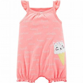 Carter's Neon Cat Ice Cream Romper