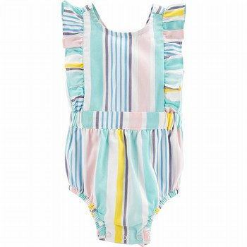 Carter's Striped Bubble Romper