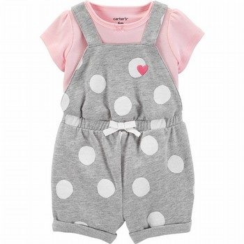 Carter's 2PC Tee & Polka Dot Shortalls Set