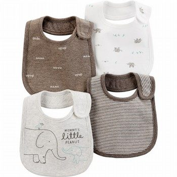 Carter's 4PK Elephant Teething Bibs