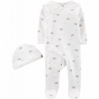 Carter's 2PC Cap & Side-Snap Sleep & Play Set
