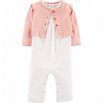 Carter's 2PC Jumpsuit & Cardigan Set