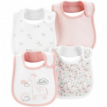 Carter's 4PK Animal Printed Teething Bibs
