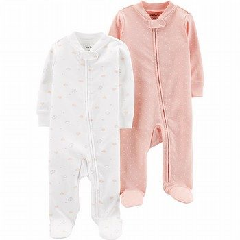 Carter's 2PK Cotton Zip-Up Sleep & Play Onepiece