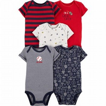Carter's 5PK Sports Original Bodysuits