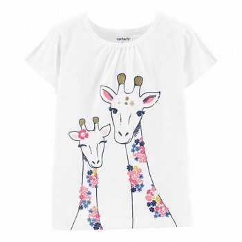Carter's Giraffe Split Shoulder Tee