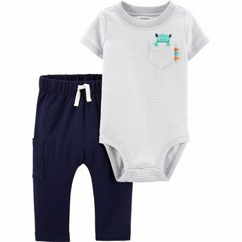 Carter's 2PC Monster Bodysuit Pant Set