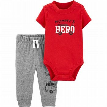 Carter's 2PC Firetruck Bodysuit Pant Set