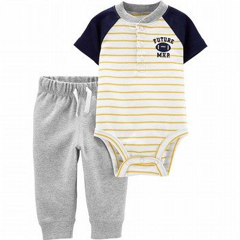 Carter's 2PC Football Henley Bodysuit Pant Set