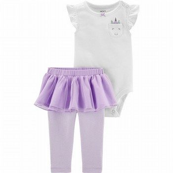 Carter's 2PC Unicorn Bodysuit & Tutu Pant Set