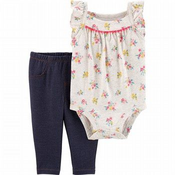 Carter's 2PC Floral Bodysuit Pant Set