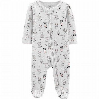 Carter's Zip-Up Thermal Sleep & Play Onepiece