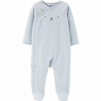 Carter's Side-Snap Terry Sleep & Play Onepiece
