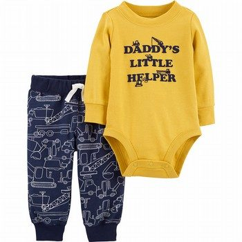 Carter's 2PC Construction Bodysuit Pant Set