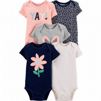 Carter's 5PK Butterfly Original Bodysuits