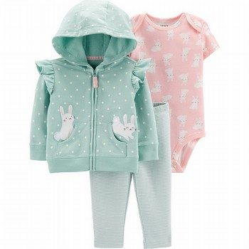 Carter's 3PC Bunny Little Jacket Set