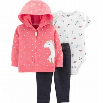 Carter's 3PC Unicorn Little Jacket Set