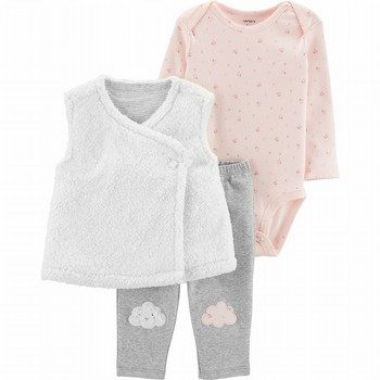 Carter's 3PC Cloud Little Vest Set