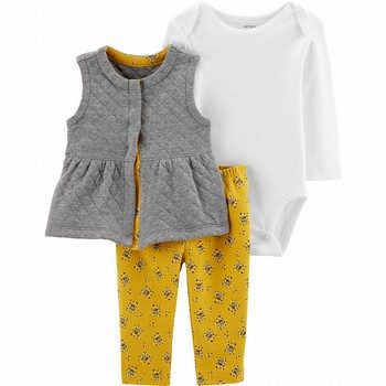 Carter's 3PC Floral Little Vest Set