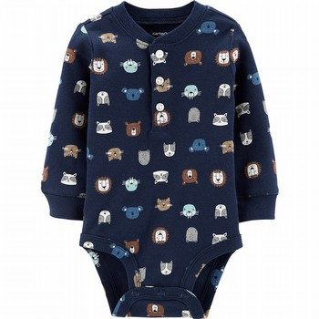 Carter's Animal Characters Henley Bodysuit