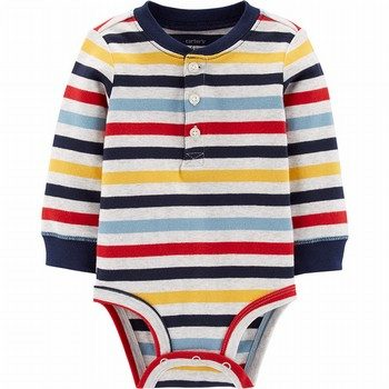 Carter's Striped Henley Bodysuit