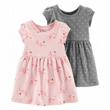 Carter's 2PK Ballerinas & Polka Dots Jersey Dress Set