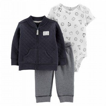 Carter's 3PC Quilted Cardigan Set