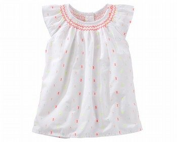 OshKosh Smocked Swiss Dot Top