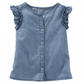 Oshkosh Button Chambray Top
