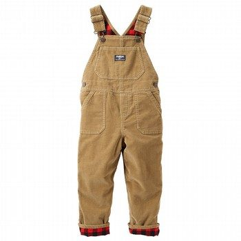 OshKosh Flannel-Lined Cordroy Overalls