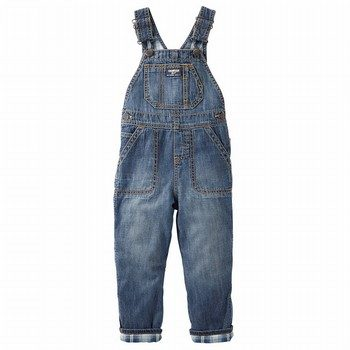 OshKosh Flannel-Lined Denim Overalls - Heritage Indigo